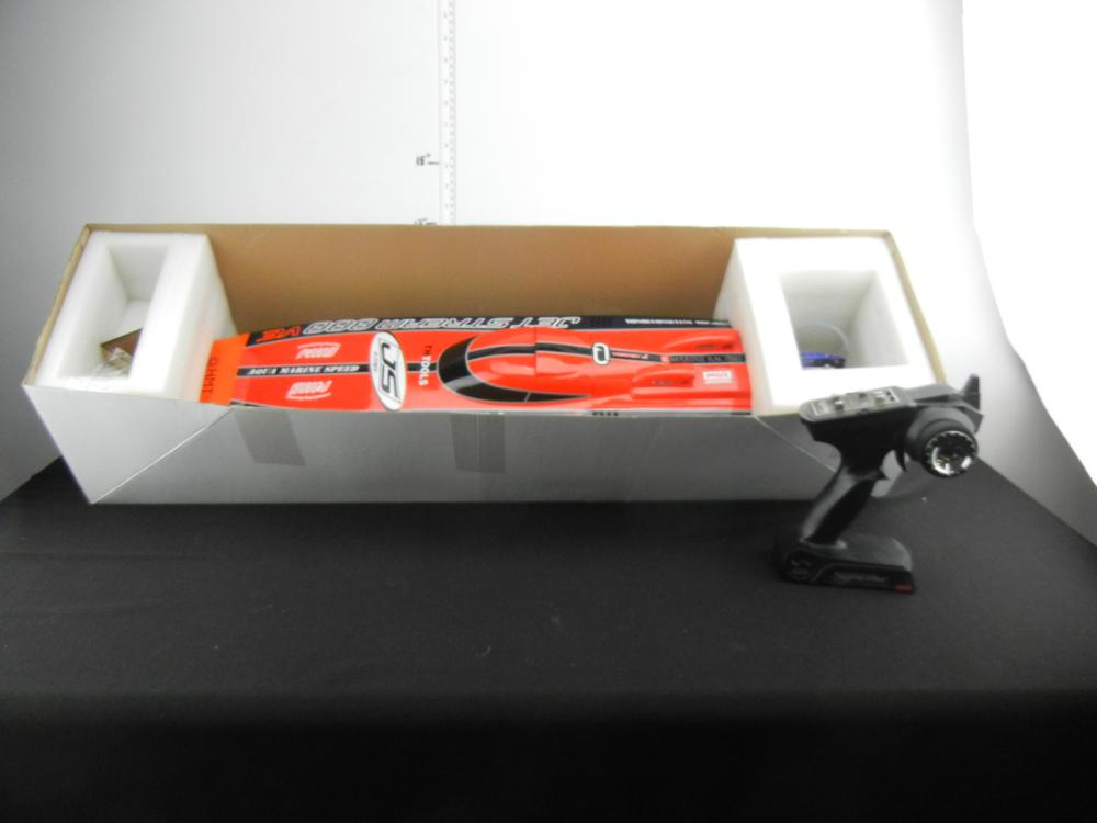 1/15th Scale Radio Controlled Electric Powered FRP Racing Boat