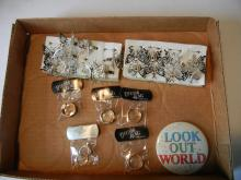 Lot of Butterfly Rings and Thumb Rings Costume Jewelry