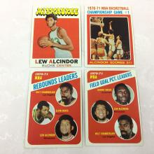 1971-72 Topps Basketball Lot - Lew Alcindor, Wilt Chamberlain - Varying Conditions