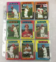 1975 Topps Cincinnati Reds Cards  - Lot of 46 Cards - Pete Rose, Johnny Bench - Varying Conditions