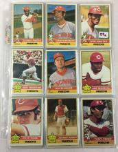 1976 Topps Cincinnati Reds Cards - Lot of 32 Cards - Pete Rose, Johnny Bench - Varying Conditions