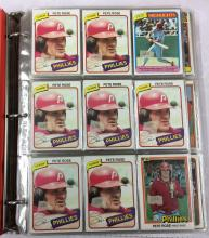 Pete Rose Card Album with Approximately 750 Cards - 1980's