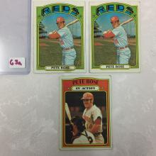 1972 Topps Pete Rose Cards -Varying Conditions