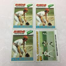 1977 Topps Pete Rose Cards - Varying Conditions