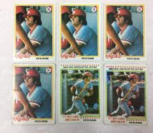 1978 Topps Pete Rose Cards - Varying Conditions