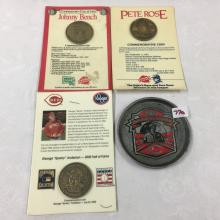 Cincinnati Reds Lot - Johnny Bench, Pete Rose, Sparky Anderson Kahn's Coins