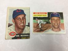 1953 & 1956 Topps Joe Nuxhall Cards