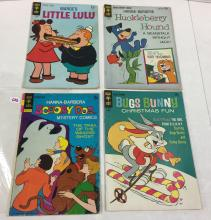 Lot of 4 Gold Key Comics -Scooby Doo #17, Bugs Bunny #109, Little Lulu #196, Huckleberry Hound #23