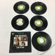 Lot of 5 Beatles 45 Records - Apple Label
