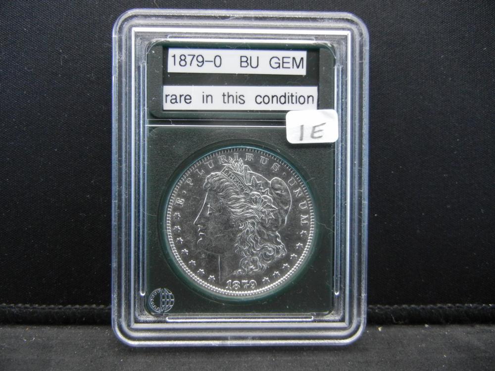 1879-O morgan Silver Dollar, BU Gem. Rare in this condition