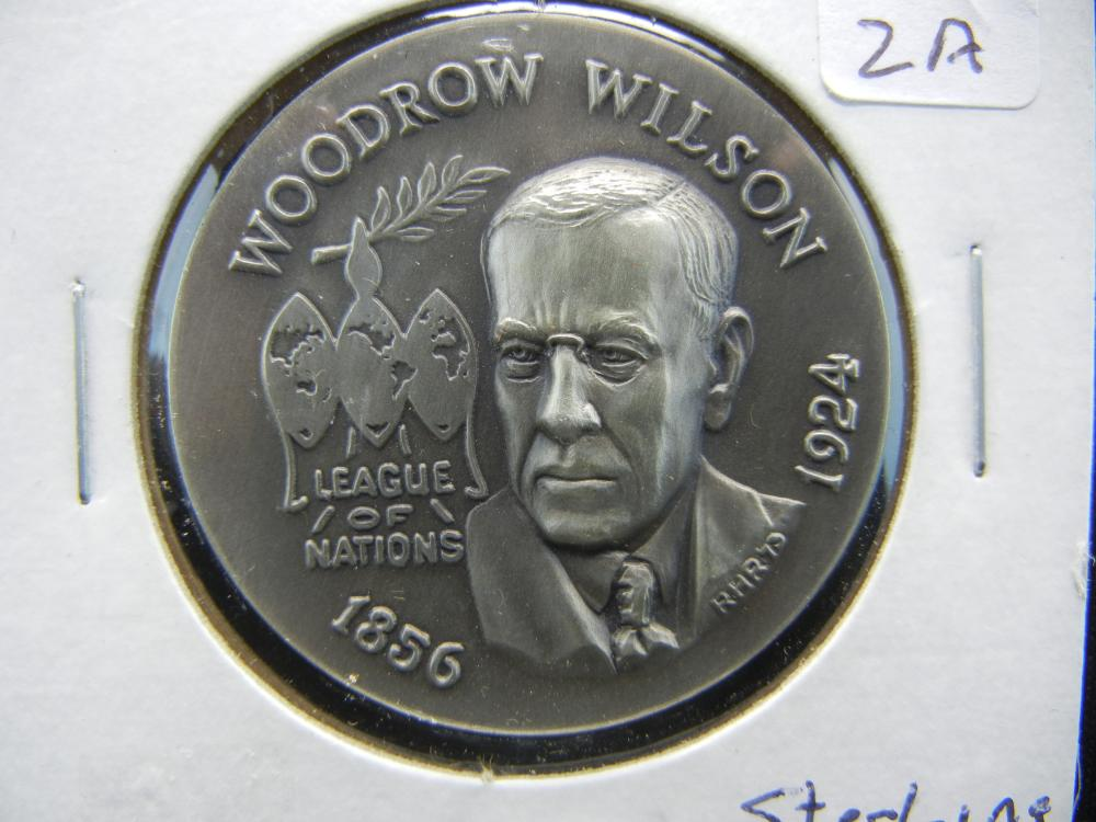 Woodrow Wilson Sterling Medal produced by the Catholic Digest.  At least an ounce