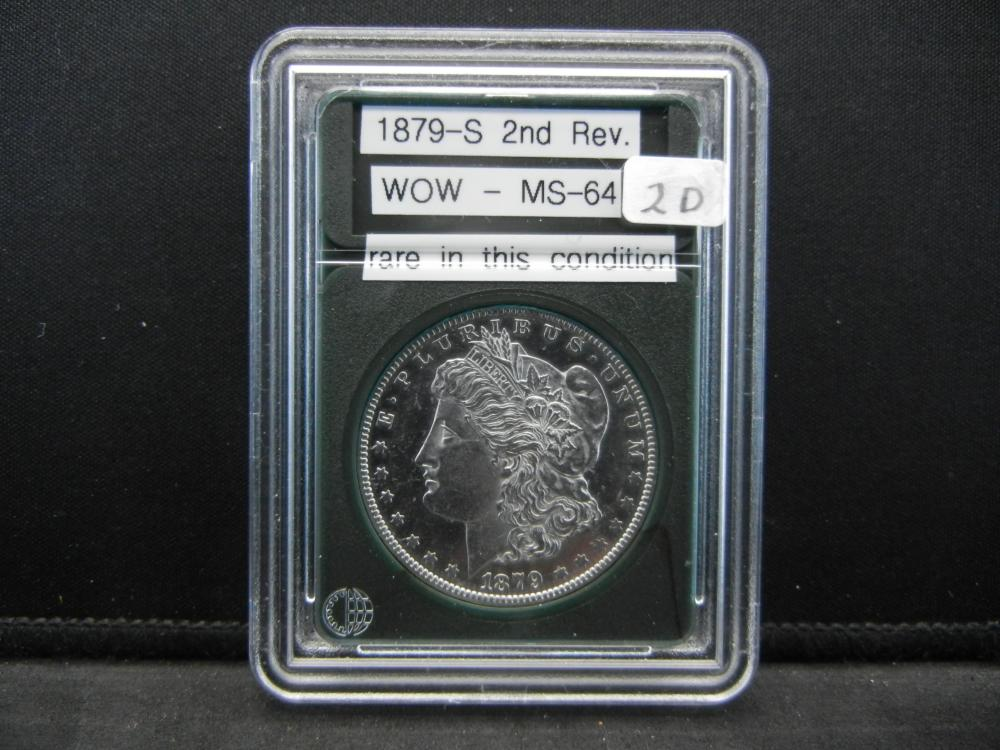 1879-S Morgan Silver Dollar. 2nd Reverse. Wow BU GEM. Rare in this condition