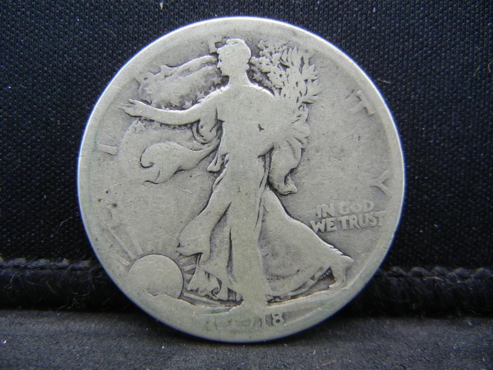 1918-S Walking Liberty Half Dollar.