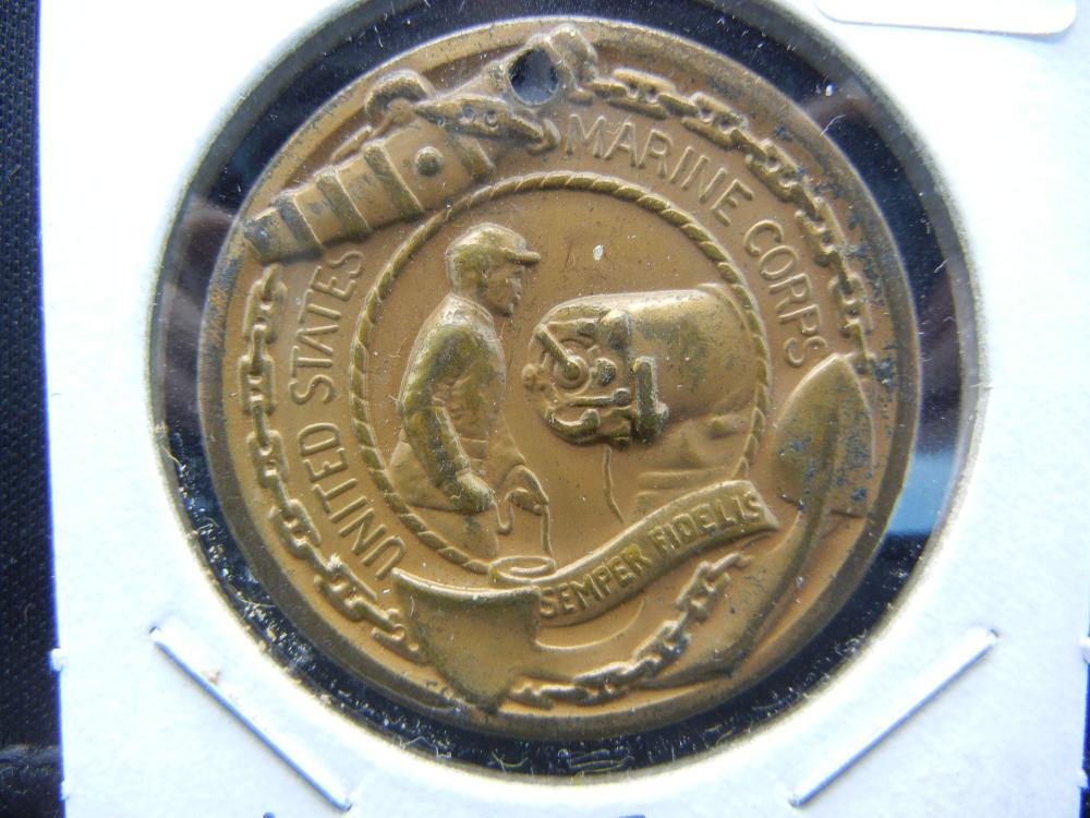 World War II US Marine Corps Good Conduct Medal.   Very Few Awarded-Hah!