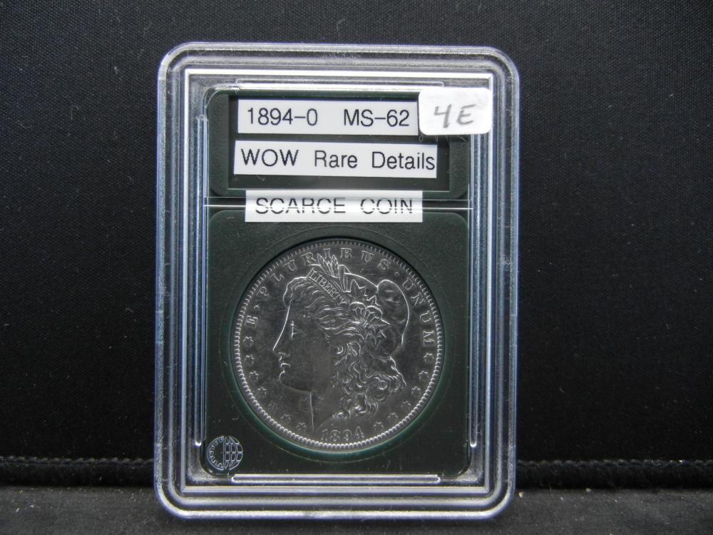1894-O Morgan Silver Dollar, Wow rare Details, Scarce Coin