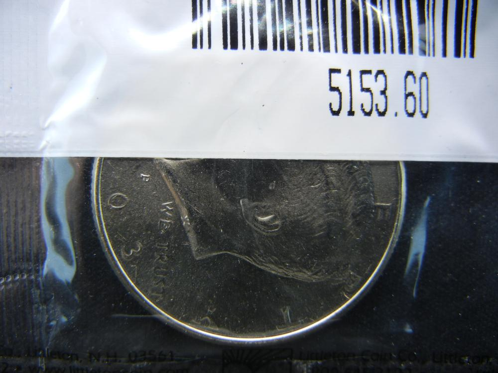 2003-P Kennedy Half Dollar, Graded Uncirculated by Littleton Coin Company Packaged in Cellophane.