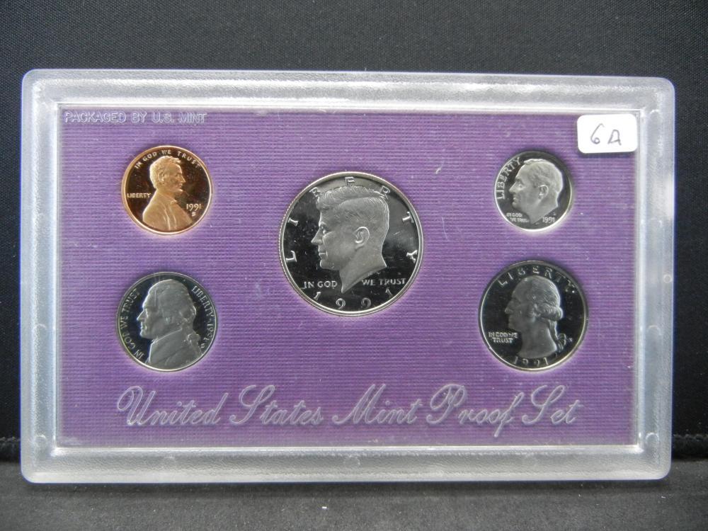 1991-S US Proof Set in US mint plastic sleeve.  GEM.