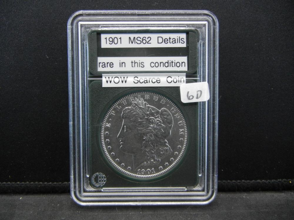 1901 Morgan Silver Dollar. Wow Scarce Coin, Rare in this condition