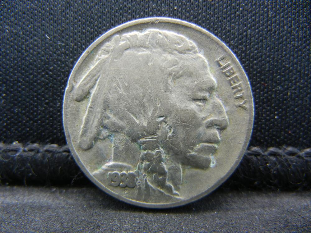 1938-D Buffalo Nickel, Half Horn.