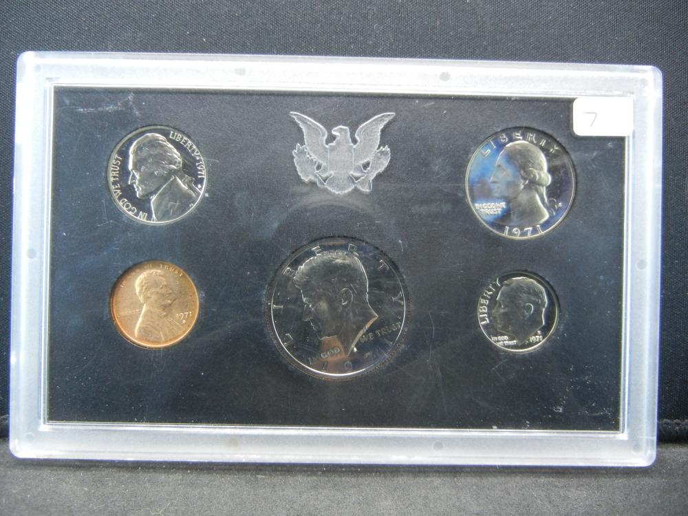 1971-S US Proof Set in US mint plastic sleeve.  GEM.