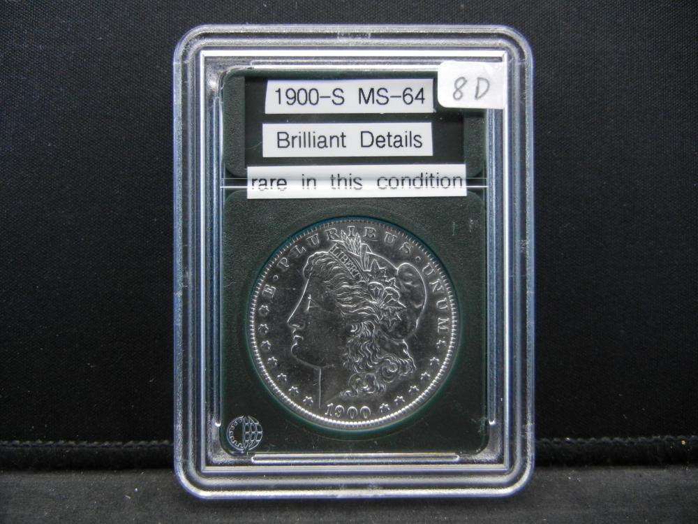 1900-S Morgan Silver Dollar. BU Gem. Wow Rare in this Condition
