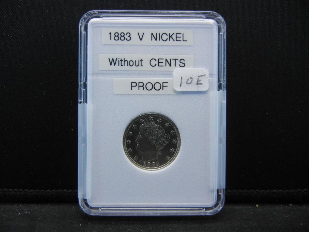 1883 Liberty Head V Nickel, Without Cents. Proof Quality. Mirror Finish