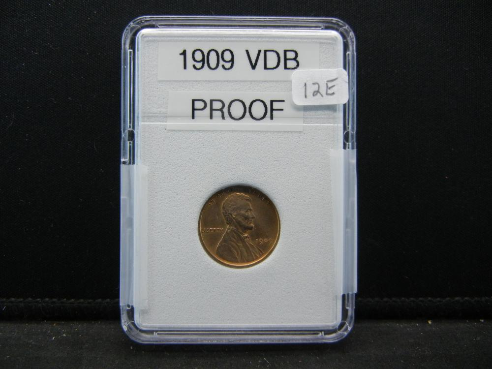 1909 VDB Lincoln Wheat Cent. Proof Quality, Full Wheat Heads