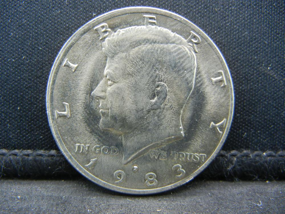 1983-P Uncirculated Kennedy Half Dollar, Key Date.