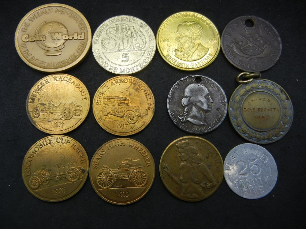 Group of 10 Medals and Tokens.