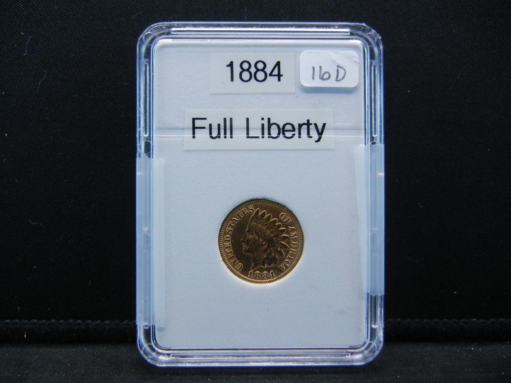 1884 Indian Head Cent. Full Liberty