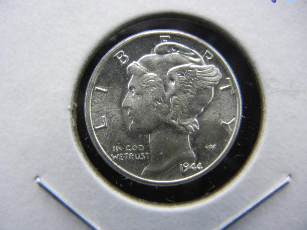1944 Mercury Dime.   Gem Brilliant Uncirculated.