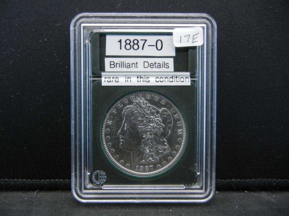 1887-O Morgan Silver Dollar, Brilliant Details, Rare in this condition