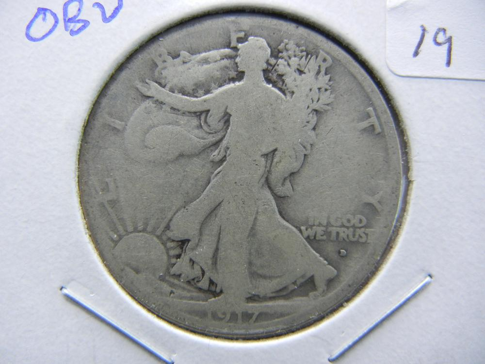 1917-D Obverse Walker.  Good.  Semi-Key.