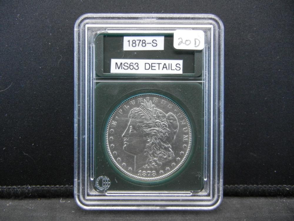 1878-S Morgan Silver Dollar. Outstanding Details