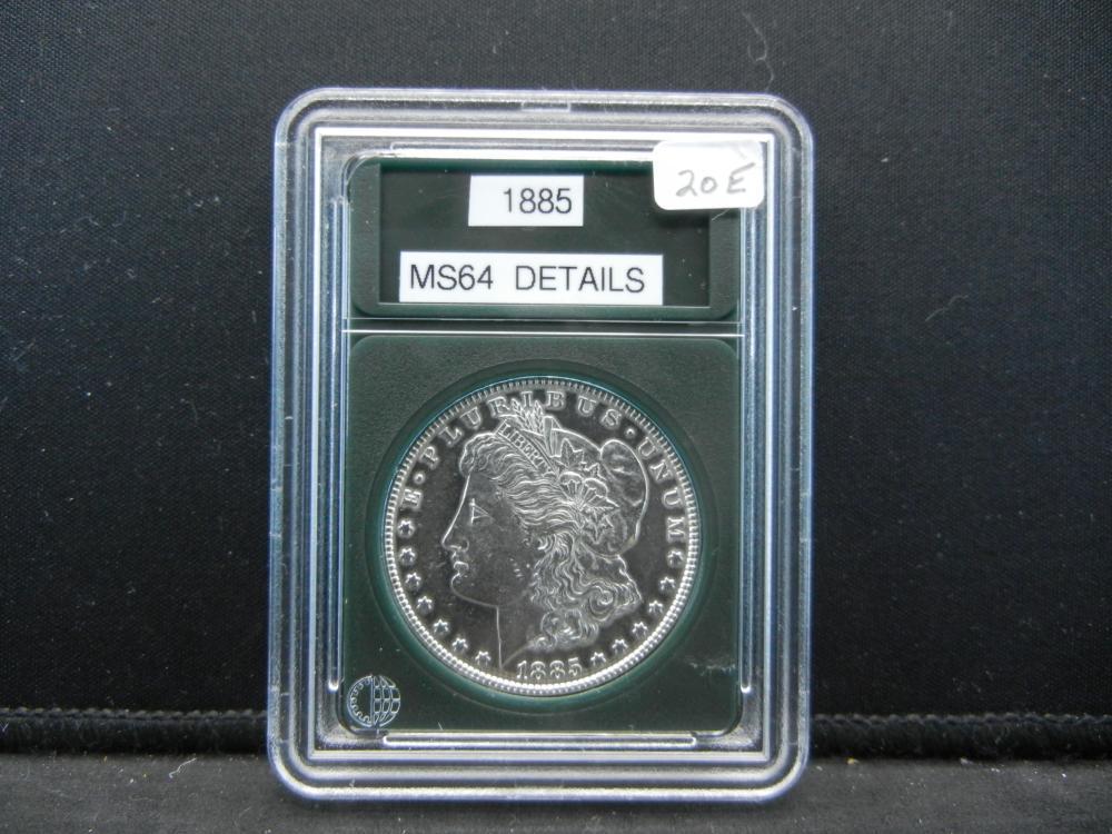 1885 Morgan Silver Dollar. Bu GEM