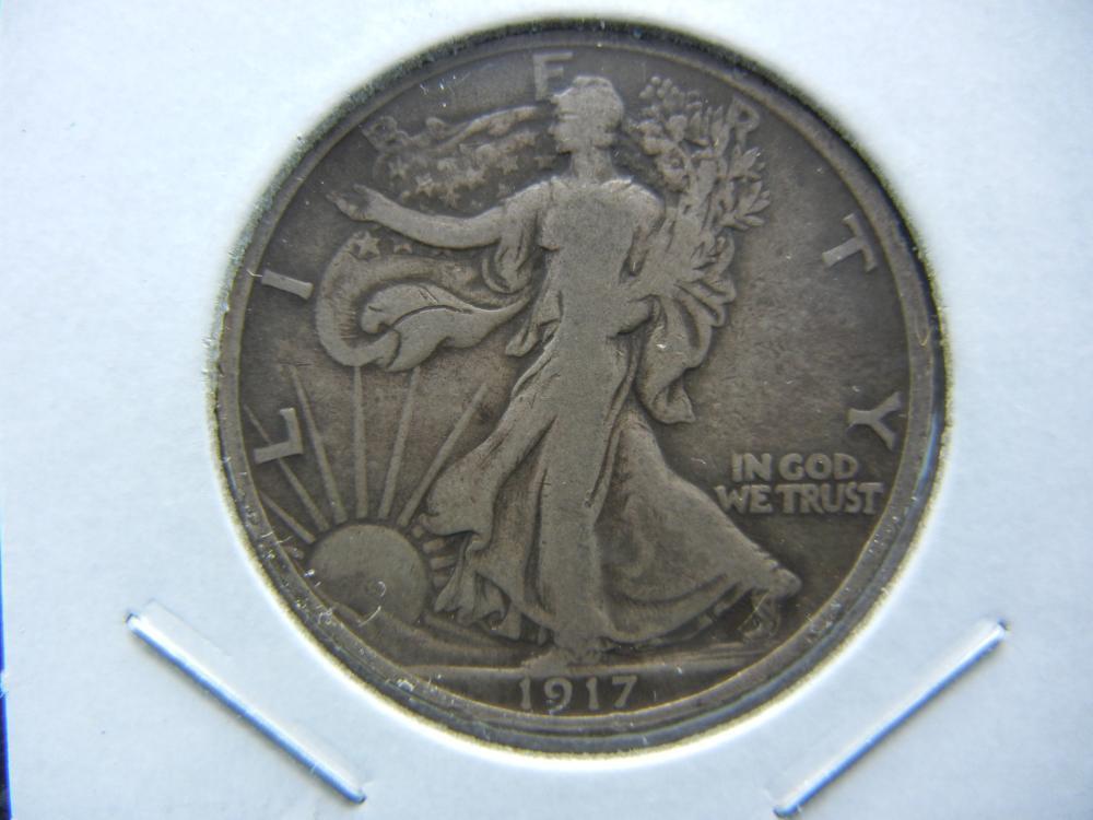 1917 Walking Liberty Half.  Nice Fine and Original.