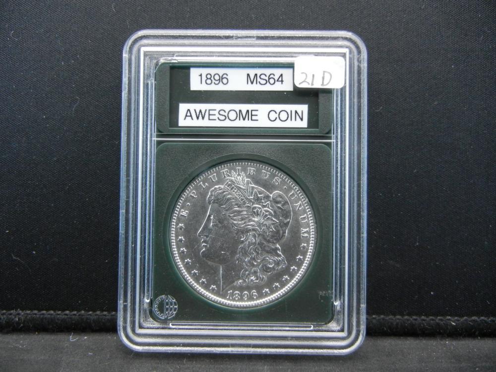 1896 Morgan Silver Dollar. BU Gem
