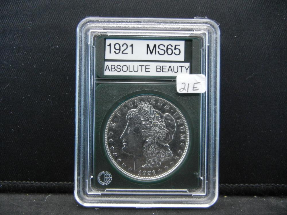1921 Morgan Silver Dollar. Proof Like Details
