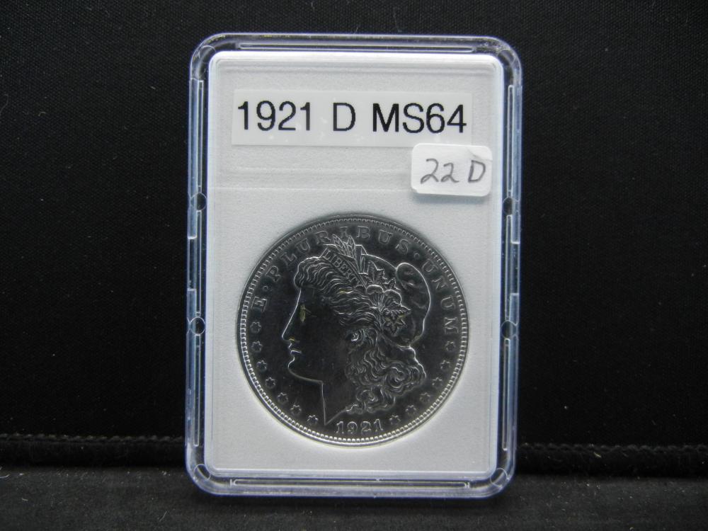 1921-D Morgan Silver Dollar. Super Details