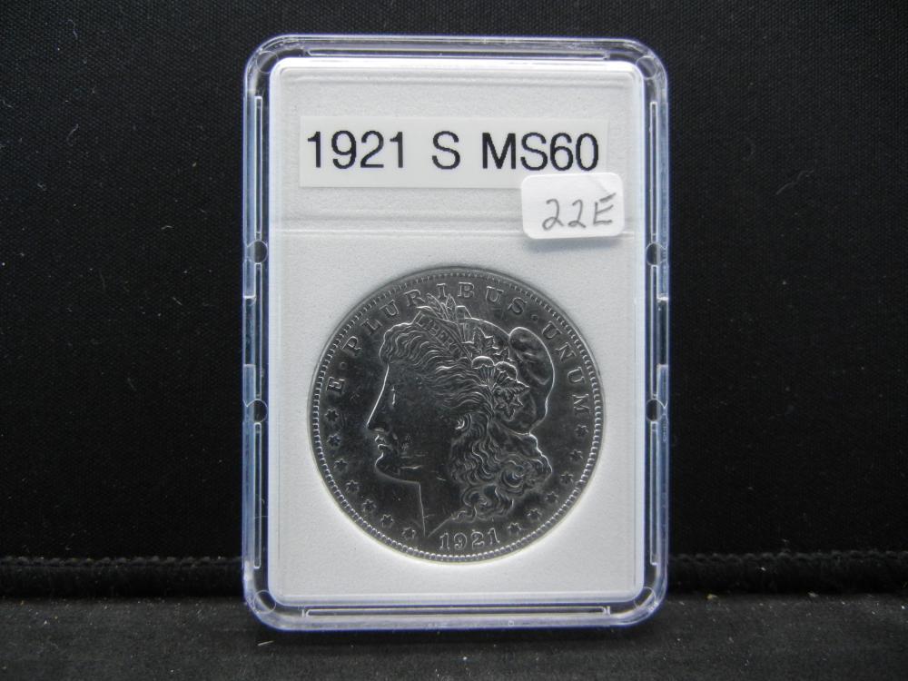 1921-S Morgan Silver Dollar. Nice Details