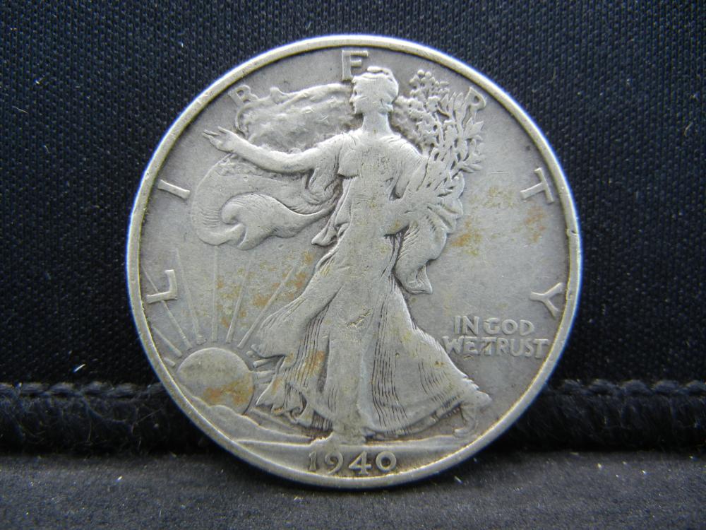 1940-S Walking Liberty Half Dollar