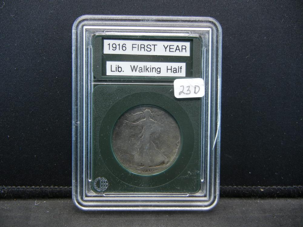 1916 Liberty Half Dollar. First year