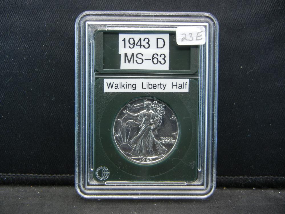 1943-D Liberty Half Dollar, Proof Like Details