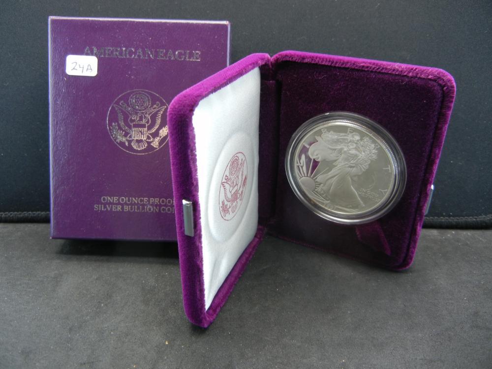 1991-S American Silver Eagle.   GEM Proof in original mint box.