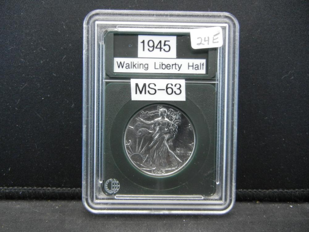 1945 Liberty Half Dollar. Proof Like Details