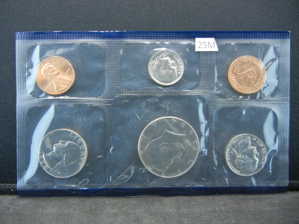 1984 Philadelphia Mint 5 Coin Set Issued By The United States Mint.