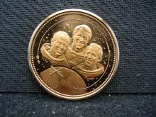 NASA SKYLAB MEDAL WITH CARR, GIBSON, AND POGUE.  THESE ARE THE ASTRONAUTS THAT FLEW THE SKYLAB MISSION
