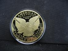 LARGE MEDAL CELEBRATING LADY LIBERTY BY THE AMERICAN MINT