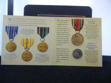 WORLD WAR 2 50TH ANNIVERSARY COMMEMORATIVE COIN AND MEDAL SET