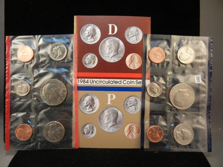 1984 P and D US Mint Uncirculated Coin Set US Coin Mint Sets US Coins